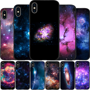 colorful space for galaxy universe Cover Soft Silicone black Phone Case For iPhone 5 5S SE 6 7 8 plus X XR XS Max 11 PRO Max(China)