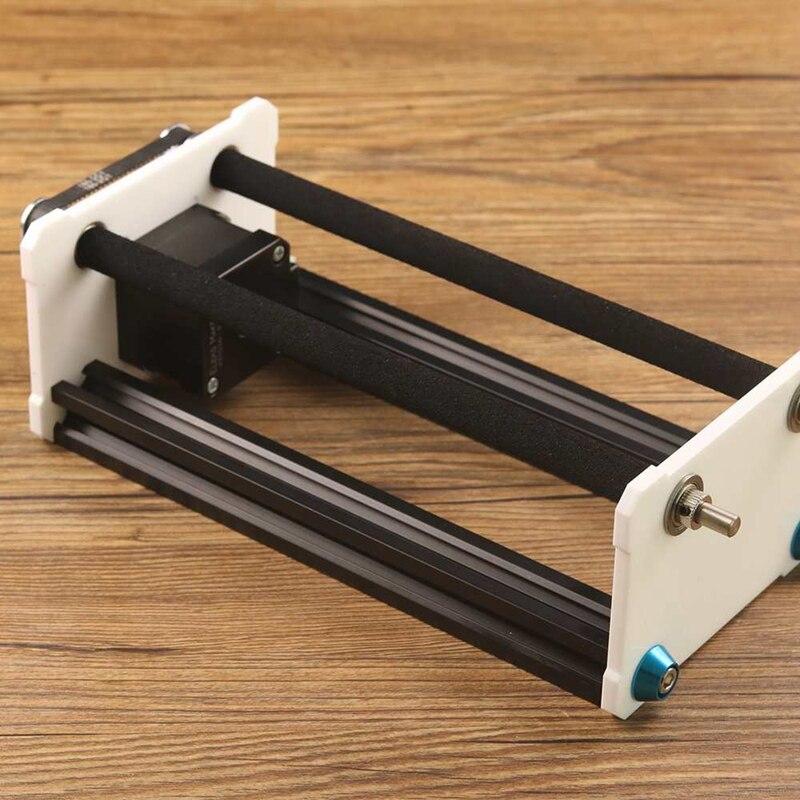 SHGO HEIßER-Drehen Gravur Modul A3 Laser Stecher Maschine Y Achse Diy Update Kit mit Stepper Motor Draht für spalte Zylinder En