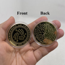 1pc ouro prata iota o emaranhado-TRYNSACTION-ATTACH crypto moeda criptomoeda colecionável ótimo presente