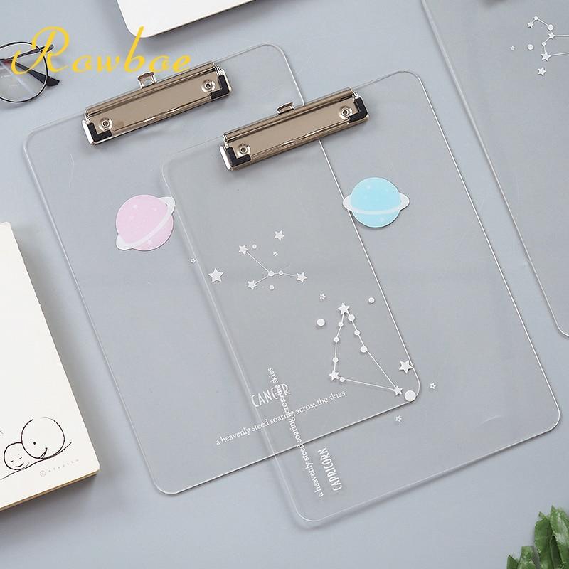 ROEBOE Cute Stationery Board Clip A4 Writing Pad Board Clip Creative Art Small Fresh Test Paper Folder Kawaii Supplies