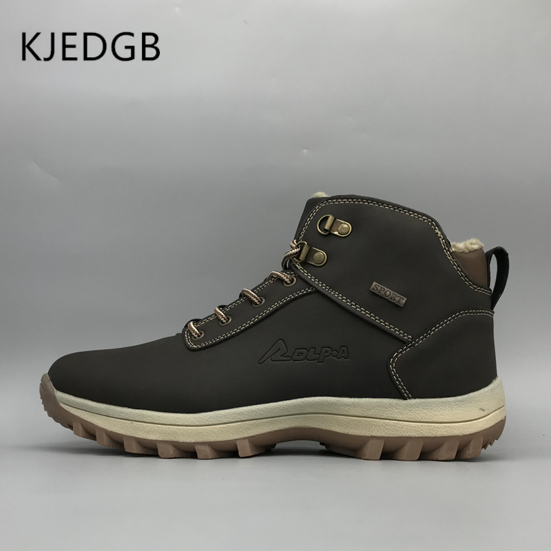 KJEDGB 2019 New Nanual Men's Boots Breathable Good Quality PU Men Sneakers Comfortable Lace-Up Outdoor Casual Basic Male Shoes