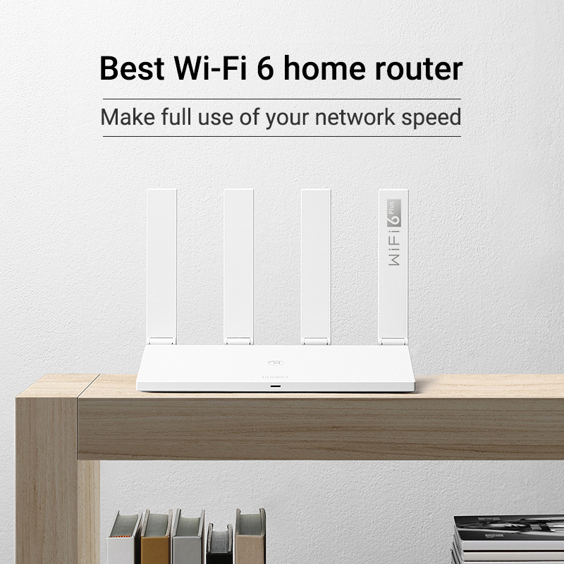 Brazil Version HUAWEI WiFi AX3 Pro Four Amplifiers (AKA AX3 Quad Core) WiFi 6+ Wireless Router WiFi 5 GHz Repeater 3000 Mbps NFC 3