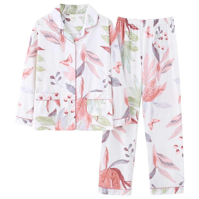 Bzel bonito rosa branco pijamas terno macio feminino pijamas de algodão dois conjuntos peças nightwear presente feminino roupa interior pijamas