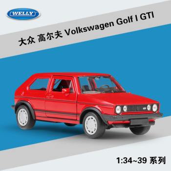 Volkswagen Golf I GTI WELLY Cars 1/36 Metal Alloy Diecast Model Cars Toys image