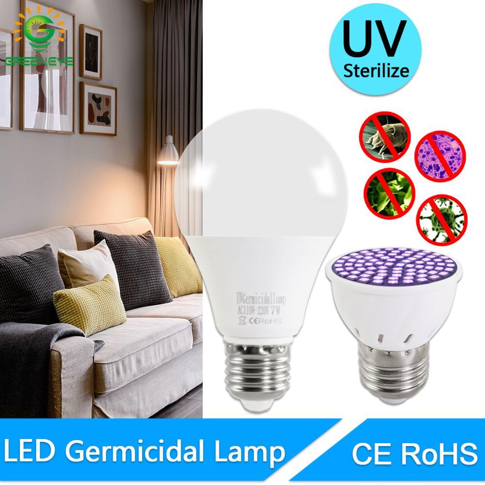 Ultraviolet Light UVC Germicidal Disinfection Lamp AC 220V E27 Bulb 5W 7W UV Sterilizer Ozone Led Spot Light Kill Mite Bacterial