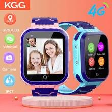 Kgg kg70 crianças relógio inteligente 4g chamada de vídeo smartwatch wifi gps rastreador telefone inteligente relógio hd câmera ip67 à prova dip67 água relógio de bebê