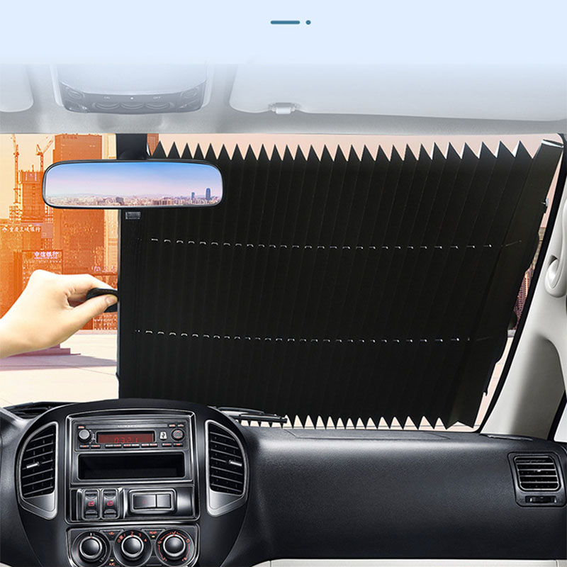 Car Retractable Windshield Anti-UV Car Window Shade Car Front Sun Block Auto Rear Window Foldable Curtain 46cm 70cm Sunshade
