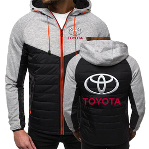 2020 Spring Autumn Men's Hoodies Car Toyota Classic Logo Fashion Print Coat Male Casual 7 Color Padded jackets Sport Zipper Tops