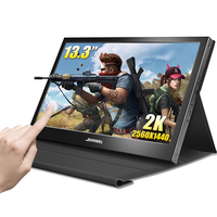 """13.3"""" monitor HDMI 2k Touch Screen LCD PC Raspberry Pi 1080p IPS Portable USB Gaming Monitor Computer for PS4 Xbox360 with case"""