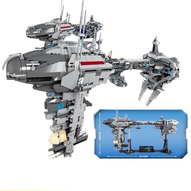 New StarWars MOC The Lepining Star Wars Nebulon-B Medical  Building Blocks Kit Bricks Set Classic Movie Toys Children Gift 75210