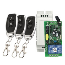 433 MHZ RF Wireless Switch Panjang Rentang AC 85-250V 2CH Channel Remote Kontrol Nirkabel Switch Receiver Modul +(China)