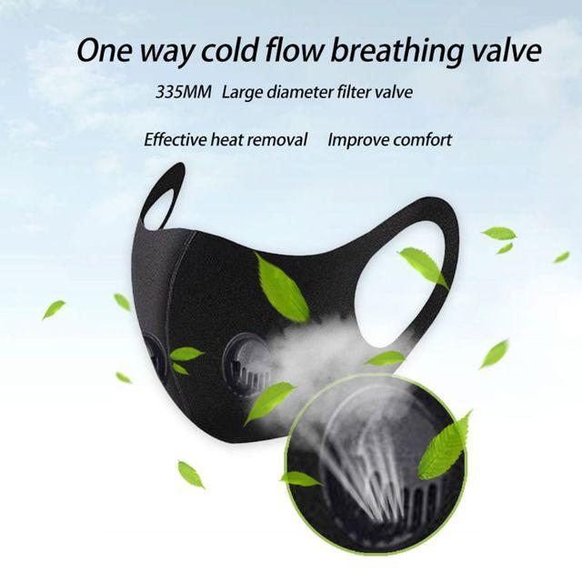 dult Double Breathing Valve Mouth Mask Saliva Prevention Polyurethane Sponge Face Shield 1