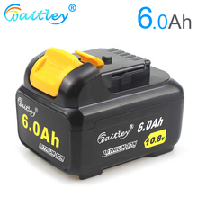 Waitley DCB120 6A 10.8V Replacement Battery for Dewalt 10.8 Volt Cordless Power Drill Tool 6000mAh Li-Ion Compatible with 12V цена 2017