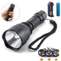 Linterna Led de alta potencia L2 T6 Q5 Linterna táctica Linterna Flash Linterna brillante 18650 batería para caza pesca de Camping