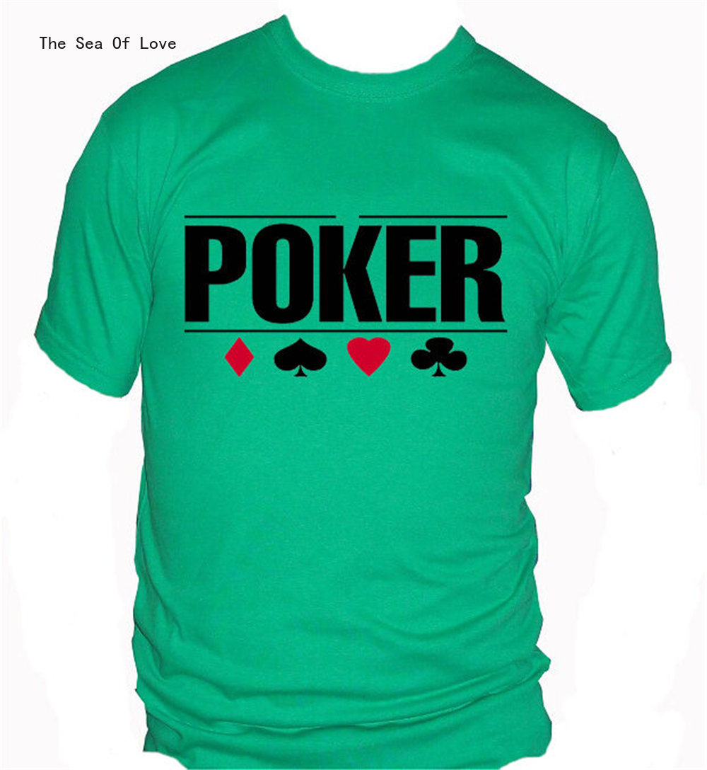 The Sea Of Love Fm10 Men'S T-Shirt Poker Pokerstars Cards Game Online Gift Mythical Men Clothes Tee Shirt 2020 image
