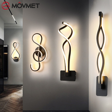 Modern Minimalist Wall Lamps Bedroom Beside Wall Light Home Indoor Decoration Lighting Corridor Wall Sconce AC90-260V