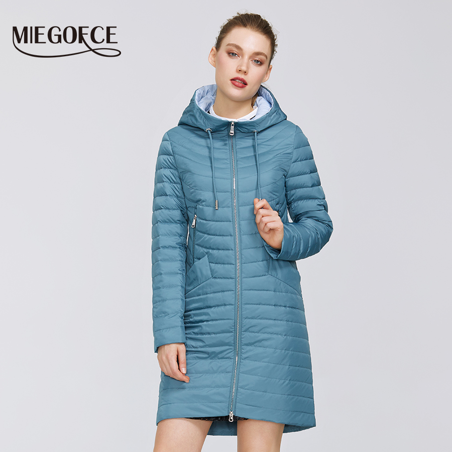 MIEGOFCE 2020 New Collection Of Designer Spring Women's Parka Coat Women's Windproof Thin Cotton Jacket Warm Jacket With A Hood