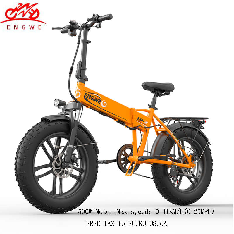 Electric bike 48V12.5A Electric 20″4.0 Fat Tire ebike Aluminum Folding 350W Powerful electric Bicycle Mountain/Snow/beach e bike