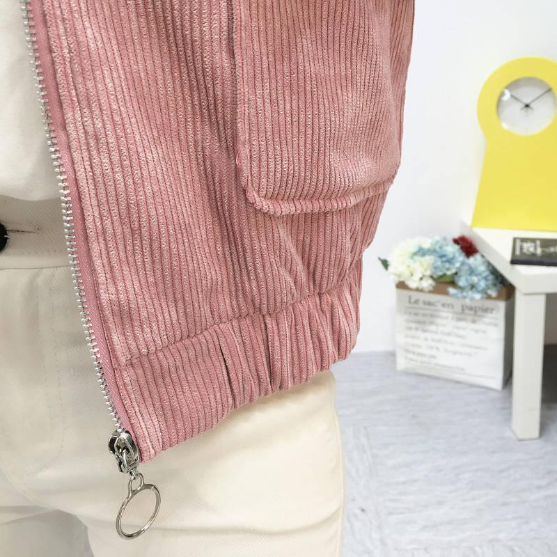 H895c71e3ed0b481dbbb901e3d8152d44F Jacket Chaqueta Coat  Clothes Streetwear New 2019 Women Jacket Long Sleeve Turn-down Collar Outerwear Brown Corduroy Coat Jacket