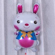 Ynaayu 1pc coelho folha de alumínio balão 70*40cm tamanho grande bonito balões decoração festa hélio para festa de aniversário do bebê