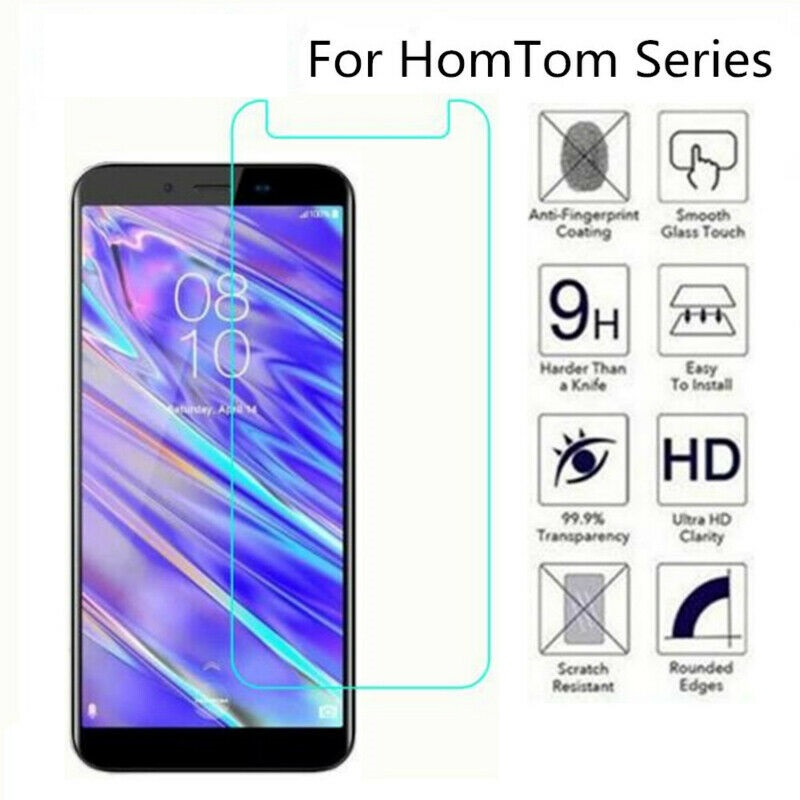 9H Tempered Glass for <font><b>HomTom</b></font> C8 H5 S12 S99 HT50 S16 S8 <font><b>HT16</b></font> HT17 S17 H10 Pro GLASS Protective Film <font><b>Screen</b></font> Protector image