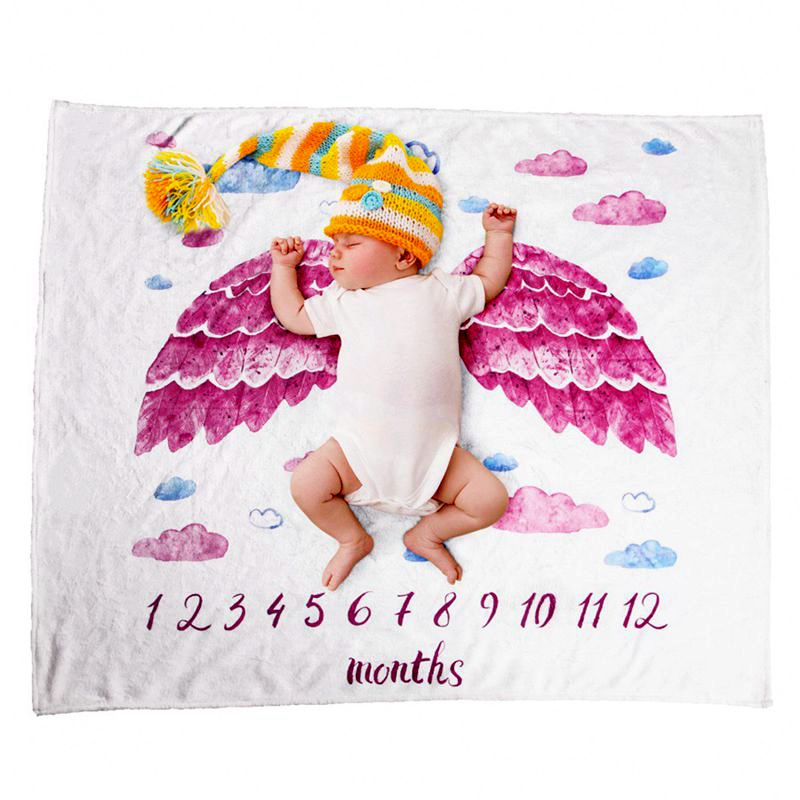 Soft Infant Baby Milestone Photo Props Background Blankets Play Mats Backdrop Cloth Calendar Photo Accessories Nordic