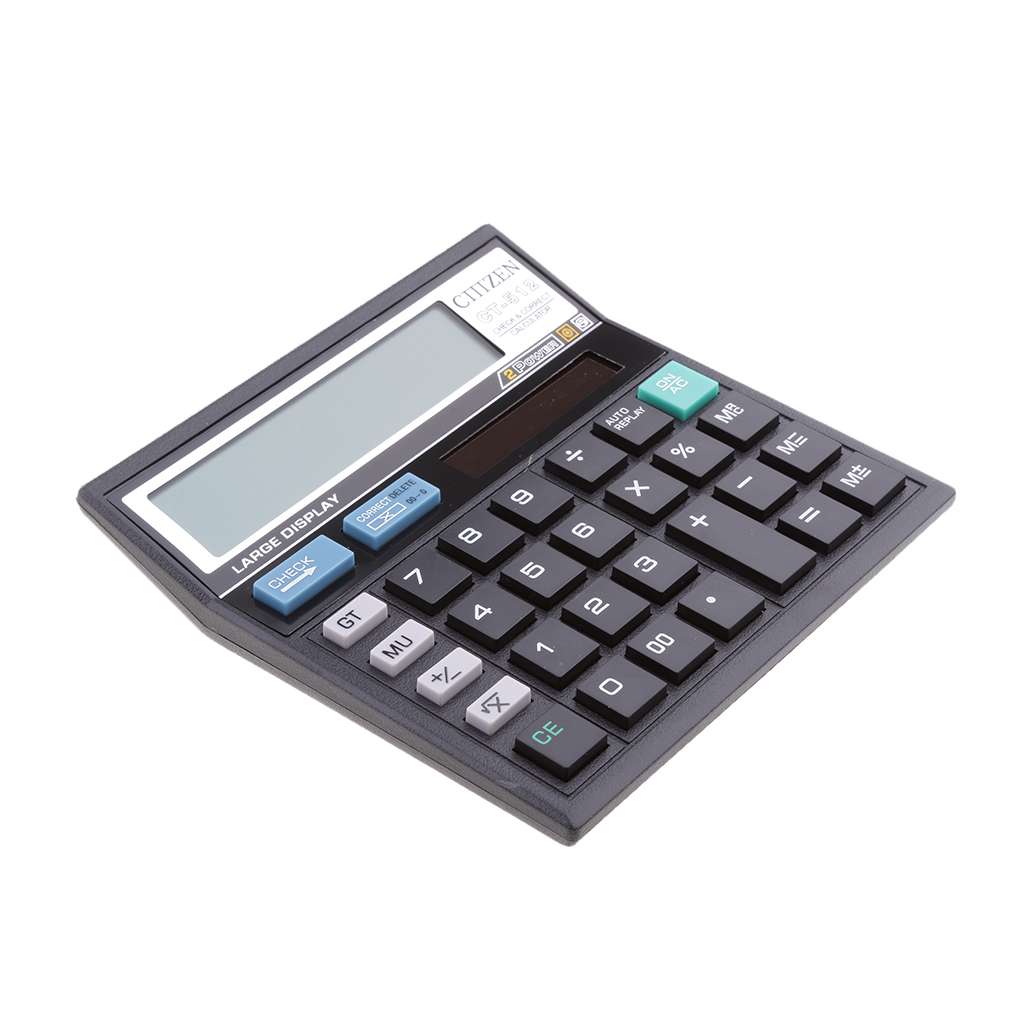 Electronic Desktop Calculator With Check And Correct 12-Digit LCD For Office