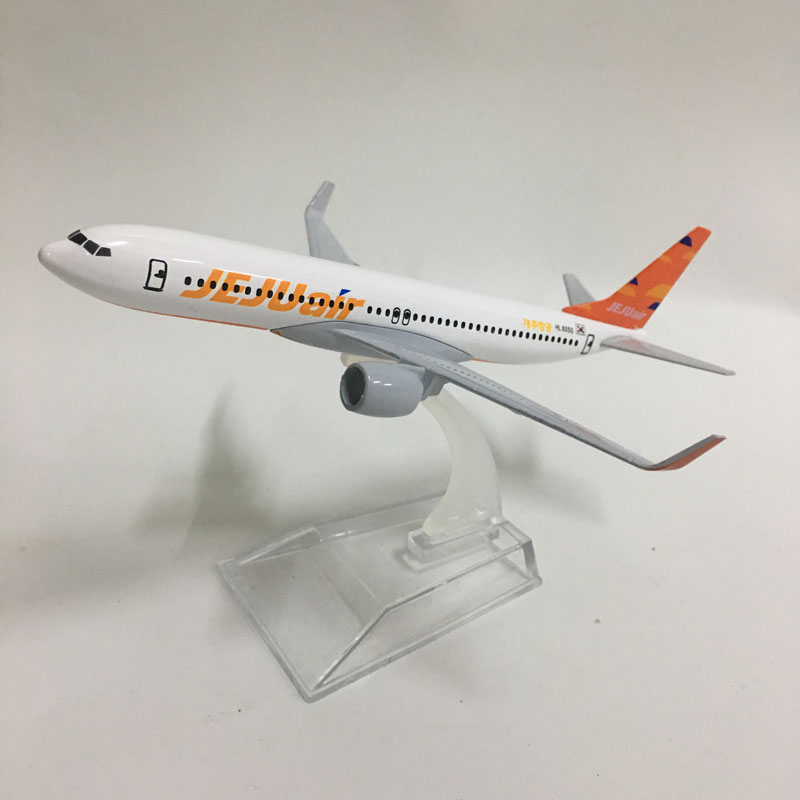 JASON TUTU 16CM Korea JEJUAIR Boeing 737 Plane Model Airplane Model Planes Aircraft Model Toy 1:400 Diecast Metal Airplanes Toys
