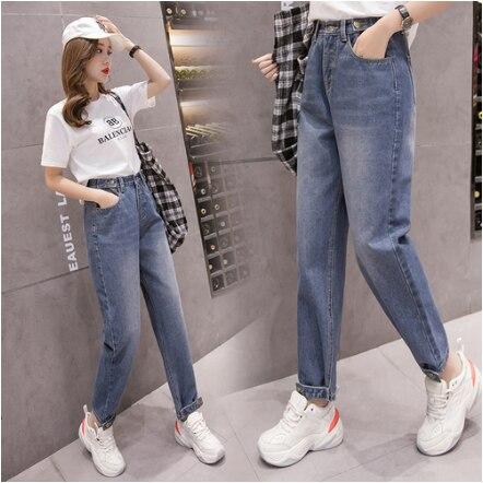 2020 Primavera Verano Harem Pantalones Jeans Mujer Moda Coreana Suelta Alta Cintura Azul Denim Jeans 5xl De Talla Grande Fw909 Pantalones Vaqueros Aliexpress
