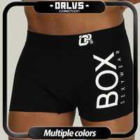 ORLVS-Calzoncillos Bóxer de algodón para hombre, ropa interior, transpirable, bolsa convexa en U, gay