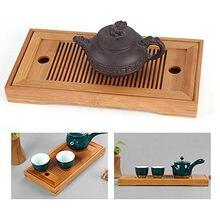 Bambu chá tabl bandeja de alta qualidade 25*14*3.5cm chinês sólido chá bandeja do agregado familiar chá placa chahai/mesa chá