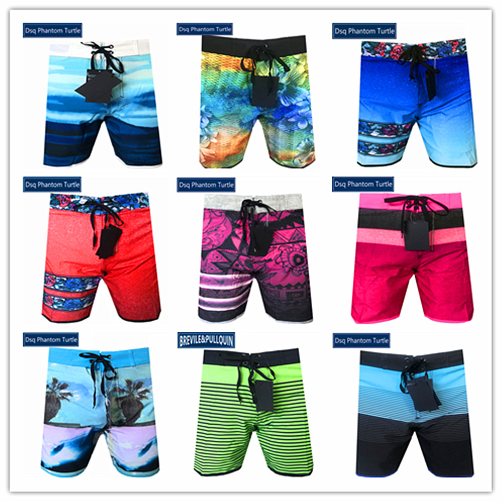 Quick Dry Beach Shorts Elk Surfing Trunks Surf Board Pants with Pockets for Men