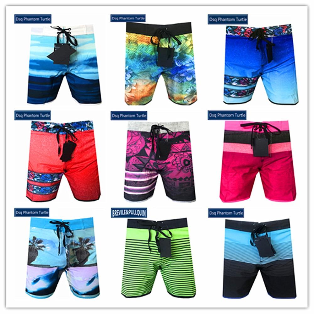 Hot Sale 2020 Brand Dsq Phantom Turtle Beach Board Shorts Men Elastic Spandex Swimwear Sexy Gay Adult Boardshort Plus Size S-XXL