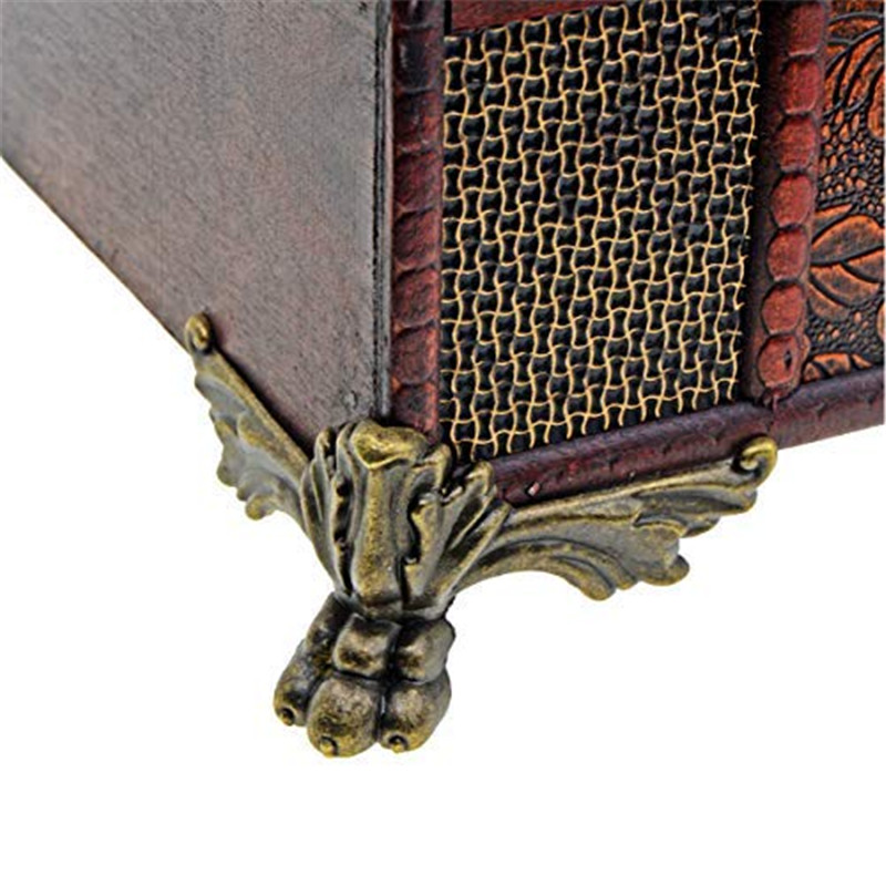 4/12pc Wood Case Corner Protector Storage Box Feet Leg Antique Jewelry Box Decorative Furniture Leg Corner Protector with Screws