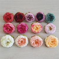 5Pcs/Pcak Peony Artificial Flowers Fake Peony Flower Head for Home Wedding Party Decor