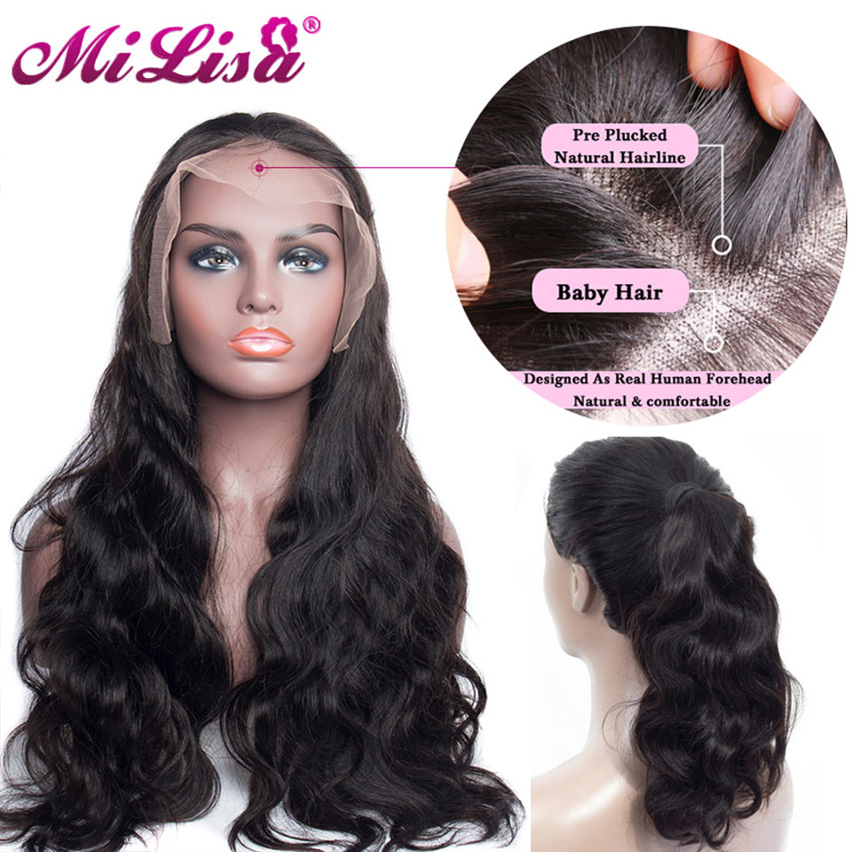 Body Wave Wig Mi Lisa Lace Human Hair Wig For Women Pre Plucked Hairline With Baby Hair Malaysian Remy Hair