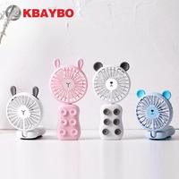 Ventiladores de mão dobráveis recarregáveis com 7 cores led handheld ou posicionados mini ventiladores pessoais elétricos portáteis ao ar livre