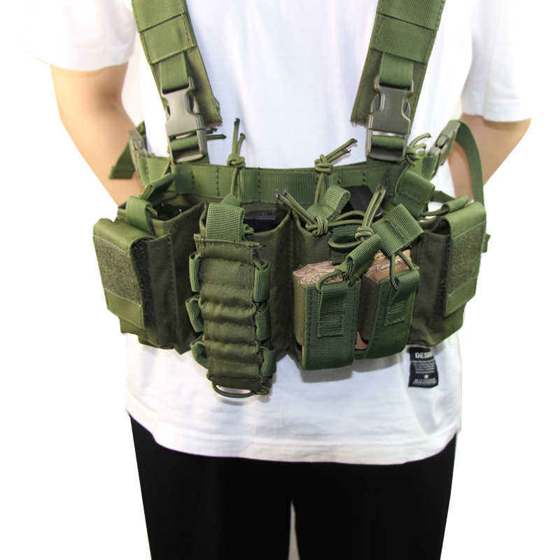 Equipo Militar chaleco táctico Airsoft Paintball Carrier Strike chaleco pecho rig paquete bolsa peso ligero chaleco resistente