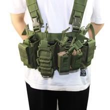 Askeri teçhizat taktik yelek Airsoft Paintball taşıyıcı Strike chaleco göğüs rig paketi çantası hafif ağır görev yelek