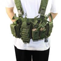 Equipo Militar chaleco táctico Airsoft Paintball Carrier Strike chaleco pecho rig paquete bolsa peso ligero chaleco resistente