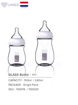 Umee baby 150ml Baby feeding glass bottle  baby bottle babies feeding bottle for children bottles baby bottles feeding bottles new arrival feeding bottles cups for babies kids water milk bottle soft mouth duckbill sippy baby feeding bottle infant training