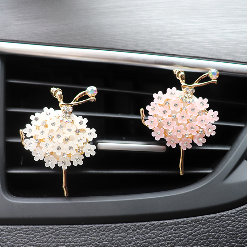 Ballet Car Decor Car Aroma Diffuser Scent Car Flavoring Bling Car Accessories For Girls Air Fresheners Auto Outlet Perfume Clip