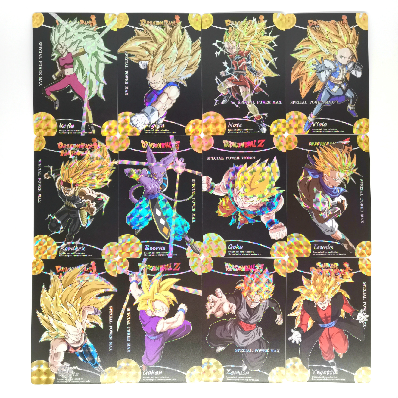 52pcs Super Dragon Ball Z Black Face Saiyan 3 Heroes Battle Card Ultra Instinct Goku Vegeta Game Collection Cards