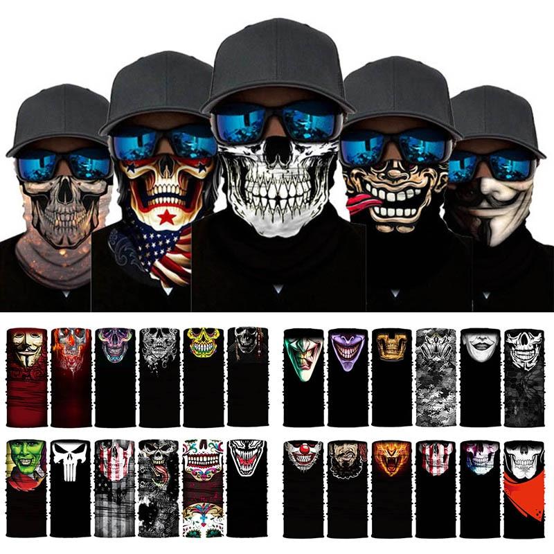 Warmer Scarf Snood-Bandana Neck-Tube Skull Faces Multi-Use Changeable Magic Outdoor Unisex
