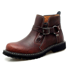 Top Brand Autumn Winter Men's Boots Cow Genuine Leather Men