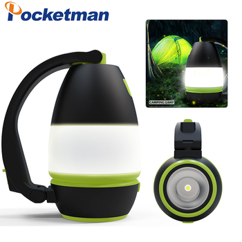 3In1 Emergency Light Portable LED Camping Lantern USB Rechargeable Flashlight Lantern for Hurricane Emergency, Hiking, Fishing