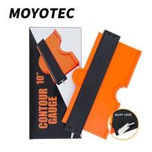 MOYOTEC Lock Wider Contour Gauge Profile Tool Alloy Edge Shaping Wood Measure Ruler Laminate Tiles Meethulp Gauge