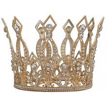 Круглая свадебная корона с кристаллами и бриллиантами головной