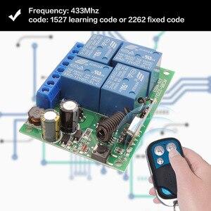 Image 2 - Controle remoto 433mhz 220v 4ch 10a, receptor de relé e transmissor para controle remoto de garagem e controle remoto interruptor de luz