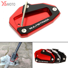 NEW Kickstand Foot Side Stand Extension Pad Support Plate For DUCATI Multistrada 950 1100 1200 1200S 1200GT 1260 Accessories